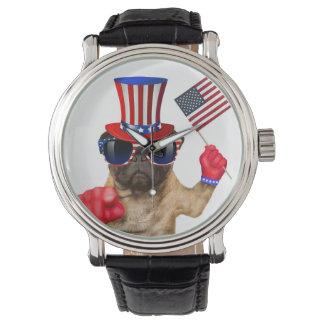 I want you ,pug ,uncle sam dog, watches