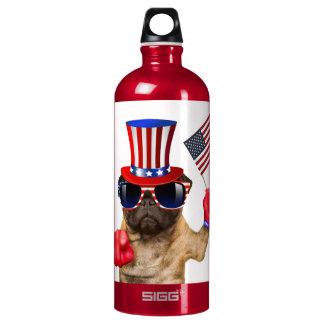 I want you ,pug ,uncle sam dog, water bottle