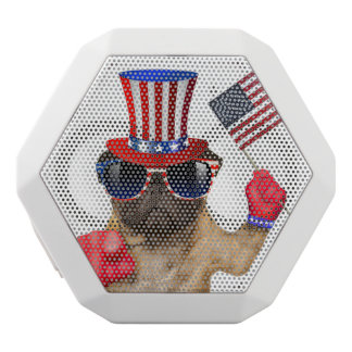 I want you ,pug ,uncle sam dog, white bluetooth speaker