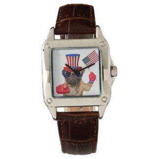 I want you ,pug ,uncle sam dog, wrist watch