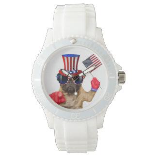 I want you ,pug ,uncle sam dog, wristwatch