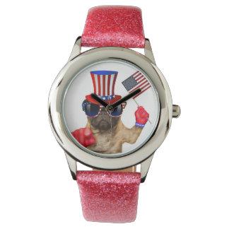 I want you ,pug ,uncle sam dog, wristwatches