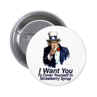 I Want You:  To Cover Yourself Buttons
