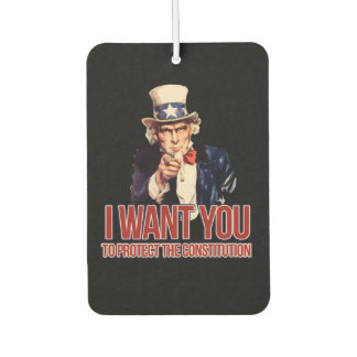 I want you to protect the constitution air freshener