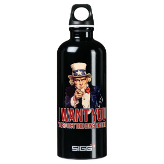 I want you to protect the constitution water bottle