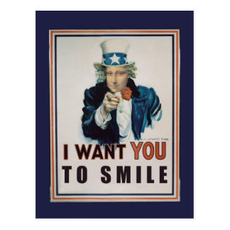 I Want You To Smile Postcard