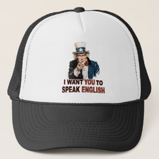 I Want You To Speak English Hat / Cap