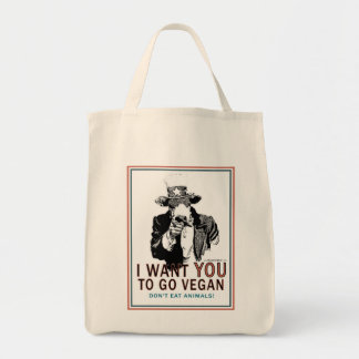 I Want You ton of Go Vegan Tote Bag