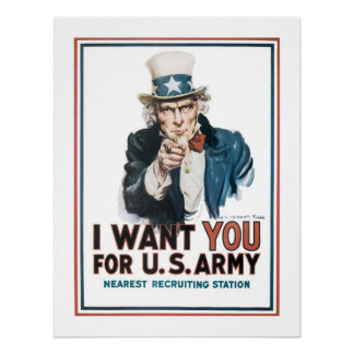 """I Want YOU"" Uncle Sam (canvas) Print"