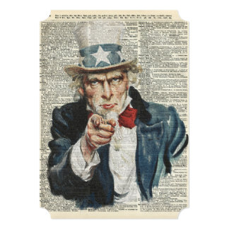I Want You Uncle Sam Card