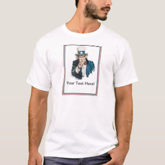 I Want You Uncle Sam Customize Your Text T-Shirt