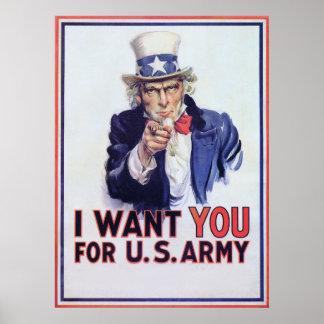 I Want You ~ Vintage World War 2 Print