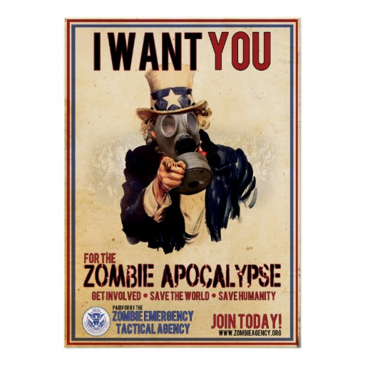 I Want You - Zombie Apocalypse - SUPER VALUE Poster