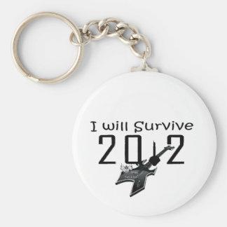 I wants Survive 2012 Basic Round Button Keychain