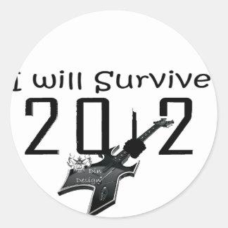 I wants Survive 2012 Round Sticker