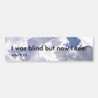 I was blind bumper sticker