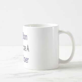 I Was Born To Become A Great Boxer Basic White Mug
