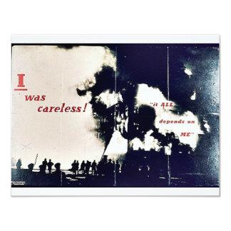"""I Was Careless! 4.25"""" X 5.5"""" Invitation Card"""