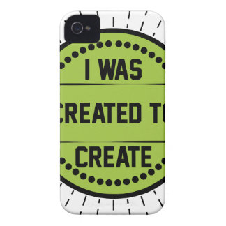 I was created to create iPhone 4 case