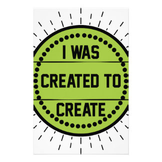 I was created to create stationery