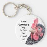 I Was Grumpy WAY before that stupid cat. Basic Round Button Keychain