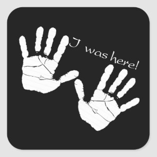 I was here handprint Sticker