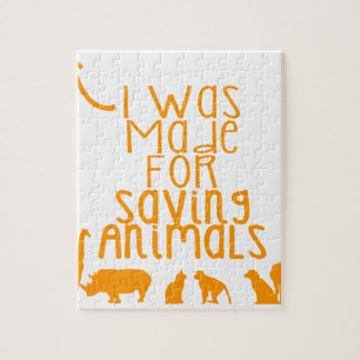 I was made for saving animals jigsaw puzzle