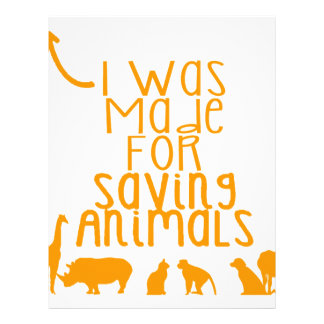 I was made for saving animals letterhead