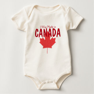 I was Made in Canada Baby Bodysuit