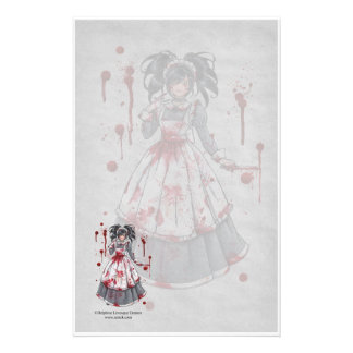 I Was Maid For You Gothic Stationery