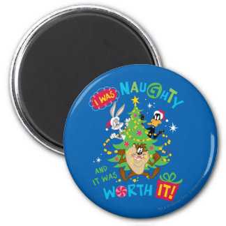 I Was Naughty 2 Inch Round Magnet
