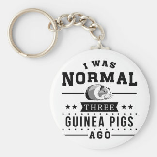 I Was Normal Three Guinea Pigs Ago Keychain