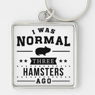 I Was Normal Three Hamsters Ago Keychain