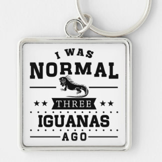 I Was Normal Three Iguanas Ago Keychain