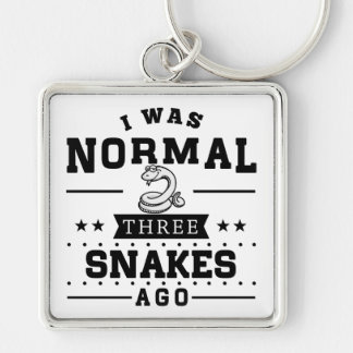 I Was Normal Three Snakes Ago Keychain