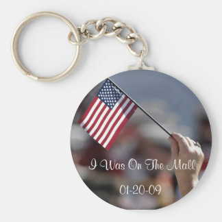 I Was On The Mall Obama Inauguration keyring