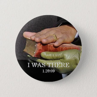 I WAS THERE: President Obama Hand on Lincoln Bible 2 Inch Round Button