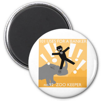 i was walking through the park one day... 2 inch round magnet