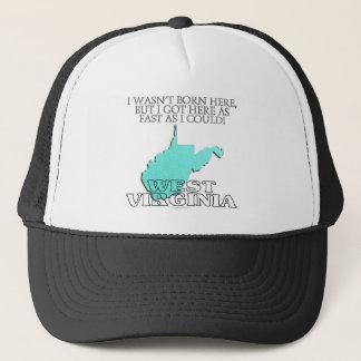 I wasn't born here...West Virginia Trucker Hat