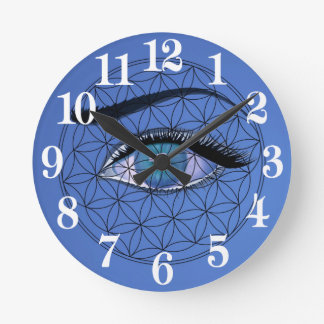 I watch All seeing blue eye Round Clock