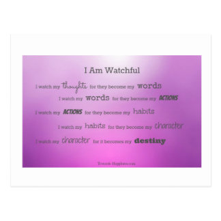 I Watch My Thoughts Postcard