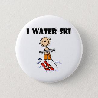 I Water Ski  2 Inch Round Button