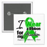 I Wear a Green Ribbon For My Grandson Pinback Button