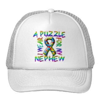 I Wear A Puzzle for my Nephew Trucker Hat