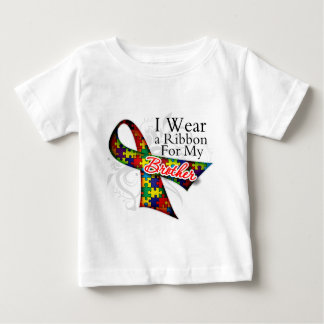 I Wear a Ribbon For My Brother - Autism Awareness Baby T-Shirt