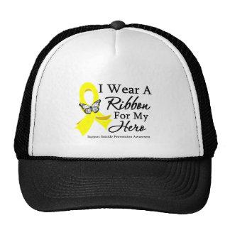 I Wear a Ribbon HERO Suicide Prevention Trucker Hats