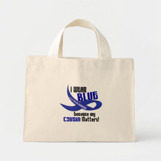 I Wear Blue For My Cousin 33 COLON CANCER Mini Tote Bag