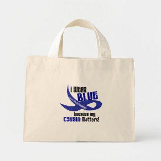I Wear Blue For My Cousin 33 COLON CANCER Mini Tote Bag