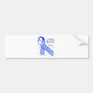 I Wear Blue for my Nanny Bumper Sticker
