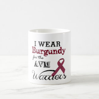 I Wear Burgundy for the AVM Warriors Mug